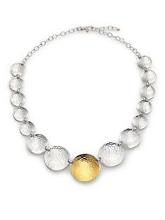 GURHAN - Hourglass 24K Yellow Gold & Sterling Silver Graduated All-Around Necklace