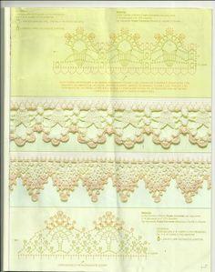 Ideas para el hogar: 49 Moldes de puntillas en crochet                                                                                                                                                                                 Más