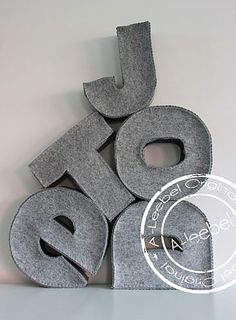 huge vilted letters: as pillows would love the letter j,d or s ow or the word love would be so awsome!