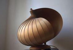 Lampe Spirallampe Tischlampe Moon Lamp Hans Agne Jacobsson Holz 60er 70er in Antiquitäten & Kunst, Design & Stil, 1960-1969 | eBay! Uni, Lamps, Ceiling Lights, Lighting, Ebay, Design, Home Decor, Timber Wood, Bulbs
