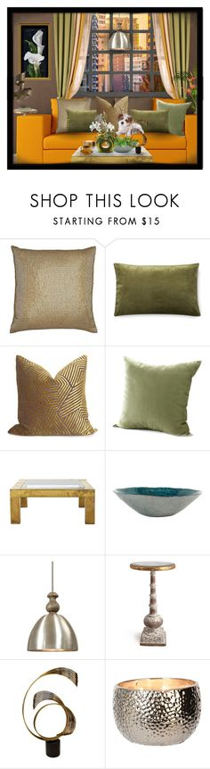 """""""Decorating With Throw Pillows"""" by julissag ❤ liked on Polyvore featuring interior, interiors, interior design, home, home decor, interior decorating, Aviva Stanoff, Williams-Sonoma, Jayson Home and Uttermost"""