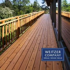 This deck project shown here features Knotted Pine used in the decking and railings. The deck was originally cantilevered over a steep slope and required a new solution to make the project feasible without significant work on the house itself.  #architecture #craftsmanship #designbuild #pdxarchitecture #pdxcontractor #pdxdesign #pdxremodel #portlandcontractor #customrailing #handrail #custom #naturalwoodgrain #woodcraft #wooddesign #woodfloor #woodflooring #woodgrain #deck #porch #railing Railings, Decking, Wood Design, Building Design, Wood Crafts, Pine, Porch, Architecture, Outdoor Decor