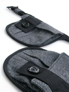 Black pocket belt  Black gray hip pack  Recycled belt by Nomadum, $110.00