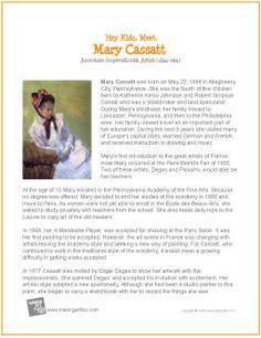 Hey Kids, Meet Mary Cassatt   Printable Biography - makingartfun.com/htm/f-maf-printit/cassatt-printit-biography.htm