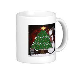 Christmas Tree Snowman Surprise Art Print Coffee Mugs by Lee Hiller