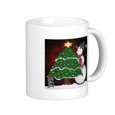 Christmas Tree Snowman Surprise Art Print Coffee Mugs by Lee Hiller