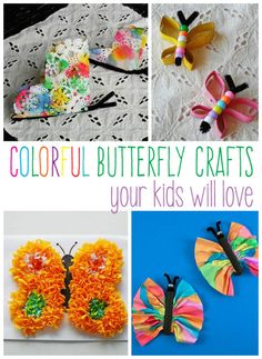 Colorful Butterfly Crafts Kids Will Love