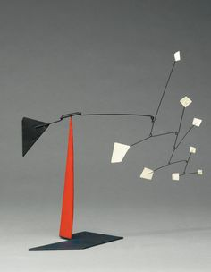 Alexander Calder 'White Quadrangles Black Triangles' Stabile from 1964 on www.moderndesign.org