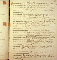Marcel Proust Fills Out a Questionnaire in 1890: The Manuscript of the 'Proust Questionnaire' in Literature |
