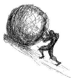 Negative Reinforcement and the Curse of Sisyphus Sisyphus Tattoo, Philosophy Tattoos, Negative Tattoo, Myth Stories, Pen Sketch, Tattoo Sketches, Tatoos, Arm Tattoos, Art Inspo