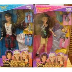 """Dolls from the TV show """"Blossom"""" - yes I clearly remember the Joey Lawrence doll and the flannel shirt he had wrapped around his waist"""