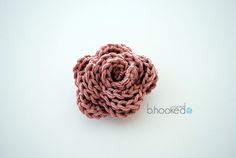 Mine didn't turn out like this one at all! But it was fun trying. Free Beginner Crochet Rose Pattern