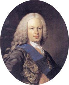 Fernando VI - Louis Michel van Loo.Hijo de Felipe V y María Luisa de Saboya. Casado con Bárbara de Braganza. Sin descendencia.