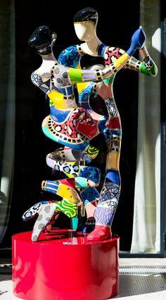 RENOIR DANCERS XL Dorit Levinstein Free Standing Sculpture 250x200cm|98x78in