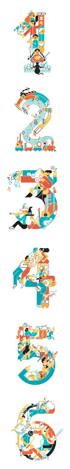 Music numbers by Carlos Arrojo. Six covers for primary music books for Ed. Edelvives.