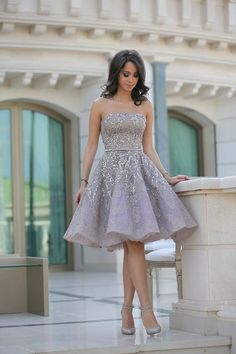 Fashion A-Line Sleeveless Backless Short Homecoming Dress With Sequins PM15 Strapless Dress Formal, Formal Dresses, Fashion, Moda, Dresses For Formal, Formal Dress, Fasion, Evening Gowns, Formal Wear