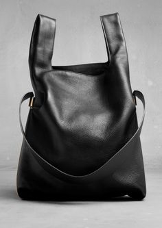 Leather Shopper | Black | & Other Stories
