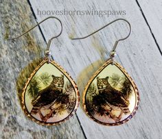 I love these beautiful handcrafted Artisan owl earrings!  #iloveowls