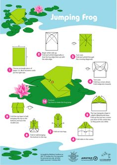 Origami Jumping frog - need to make LOTS of these!  Students will experiment with different sized paper and hypothsize which frog will leap farther, based on certain variables.  Shoudl be fun!