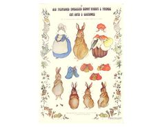 Klippark Bunny Rabbit paper dolls
