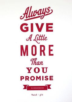 give more
