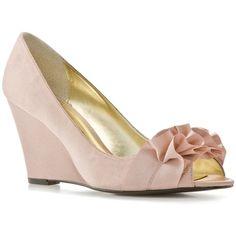Lulu Townsend Pultan Wedge Pump - Champagne - wedding shoe?