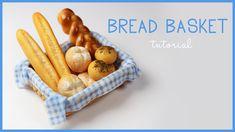 polymer clay Bread Basket TUTORIAL | polymer clay food