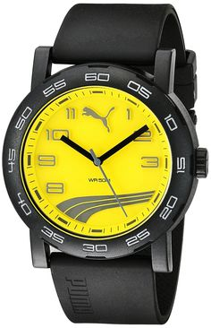 0f3fb11799d Amazon.com  PUMA Unisex PU103201010 Move II Analog Display Quartz Black  Watch  Clothing