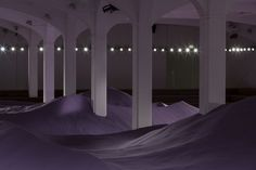 Surreal Purple Dunes Created for Prada Women's SS15 Runway Show
