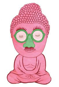 pink & green Buddha - 5 things people get wrong about mindfulness via @MindfulOnline