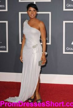 4746d325816 Toni Braxton Sexy One Shoulder Evening Dress Grammy Awards Toni Braxton