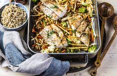 Soyabakt torsk med grønnsaker og byggkorn | Roede-kjøkkenet | Grete Roede