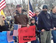 Militants at Idaho 2016 rally with VHF-UHF radio Portable Ham Radio, Survival Skills, Survival Stuff, Radio Frequency, Helpful Hints, Idaho, Digital, Rally, Guns