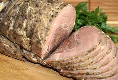 Необыкновенно ароматный получается рулет. Отличный вариант мясной нарезки на стол.