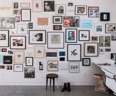 a carefully curated floor-to-ceiling salon wall...serious inspiration