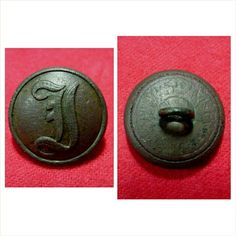 """Mint perfect condition excavated coat size Confederate """"Script I"""" button. This button was recovered from 1863 Confederate camps on private property along Duck River near Shelbyville, TN. It has a reflective slick chocolate brown patina - Isaac Campbell backmark - and shank intact."""