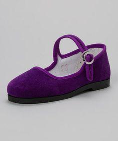 Love this Purple Velvet Mary Jane by Pandamerica on #zulily! #zulilyfinds