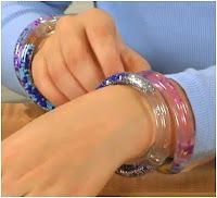 How to Make a Water Bracelet for Kids Tutorial - The Beading Gem's Journal  2 feet of clear plastic tubing with a ¼-inch inner diameter  3 inches of clear plastic tubing with a 3/8-inch inner diameter (sold in