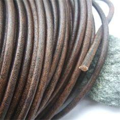 Aliexpress.com: Compre 5 Metros Marrom Escuro Genuíno Real Cordão De Couro Macio Para A Tomada De Colar DIY Apreciação Moda Jóias 5mm Rodada de confiança leather cord fornecedores em CRAFT-TOWN CO.,LTD