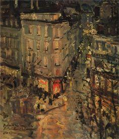 Konstantin Korovin (Russian 1861–1939) [Impressionism, Art Nouveau] Paris.Boulevard des Capucines., 1906. Tretyakov Gallery, Moscow, Russia.