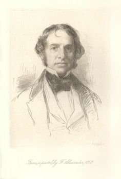 """Henry Wadsworth Longfellow, etched by S.A. Schoff, after a pastel by Francis F. Alexander, published in """"Life of Henry Wadsworth Longfellow"""", vol. 1, Longfellow, Samuel, 1886. Collection of Jonathan Small."""