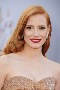 Jessica Chastain is my hair idol. And face idol. And life idol. She's a vegan, redheaded badass.