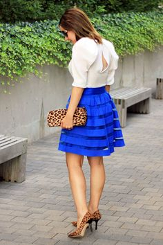 Don't love the leopard, but I am OBSESSED with the skirt!