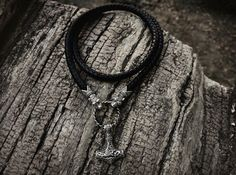 Wolf Viking Necklace Oseberg Braided Leather от BerlogaWorkshop