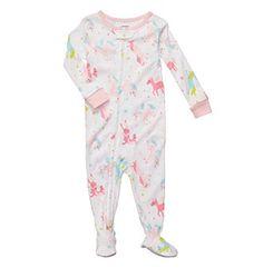 Nwt Toddler Girls Carter S Mermaid 3 Piece Pajama Set 2t