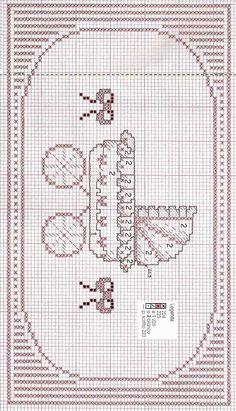 Schema punto croce bordi asciugamani rose 2 bordi punto for Ricami punto croce neonati
