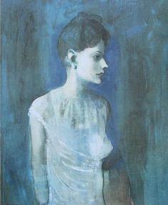 Frau im Hemd PABLO PICASSO Kunstdruck Reproduktion Surrealismus Kunst