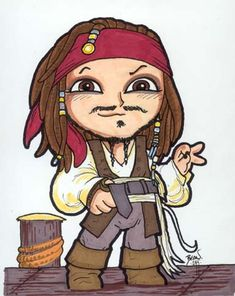 Chibi-Jack Sparrow 3. by hedbonstudios on DeviantArt
