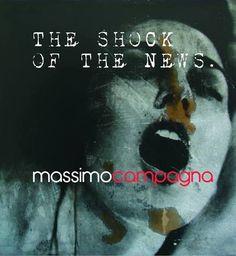 """Claudia Del Giudice per Massimo Campagna """"The shock of the news""""  Galleria Salvatore Serio, Napoli 1>11 aprile 2016"""