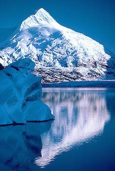 Portage Glacier in Alaska. This would be nice to see in person,please check out my website thanks. www.photopix.co.nz